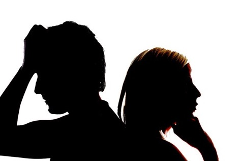 Arguing couple Back to back Couple Silhouette