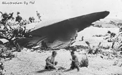 Roswell Saucer Crash With Airmen & Dead alien.jpg