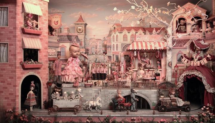 Surreal vintage diorama